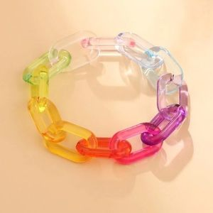 🎀 Colorful Chunky Chainlink Bracelet 🎀